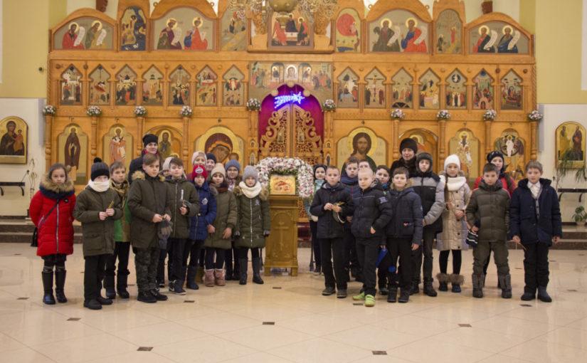 Храм посетили ученики Зеленоградской общеобразовательной школы