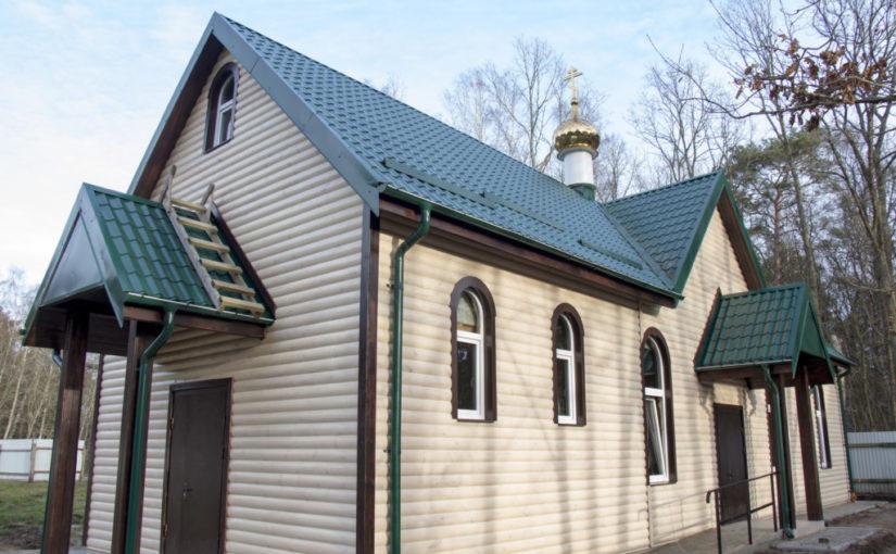 Благочинный посетил строящийся храм в честь прп.Сергия Радонежского в Светлогорске